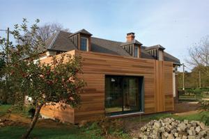 Extension à ossature bois au Fidelaire dans l'Eure