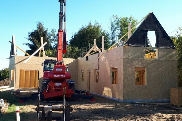 RECONSTRUCTION A OSSATURE BOIS, APRES SINISTRE, A FRENEUSE SUR RISLE
